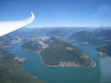 Lugano from the sky